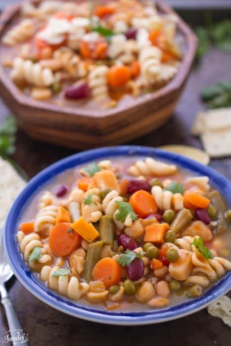 Hearty Vegetable Pasta Soup makes a satisfying meal on cold day
