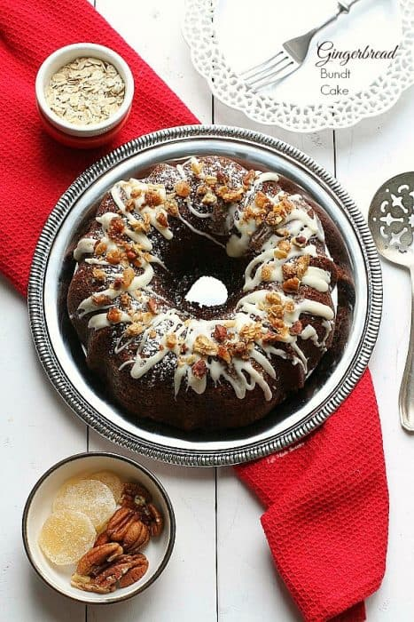 Maple Glazed Gingerbread Bundt Cake with Oat Streusel with @HodgsonMill #sponsored Recipe by @LifeMadeSweeter