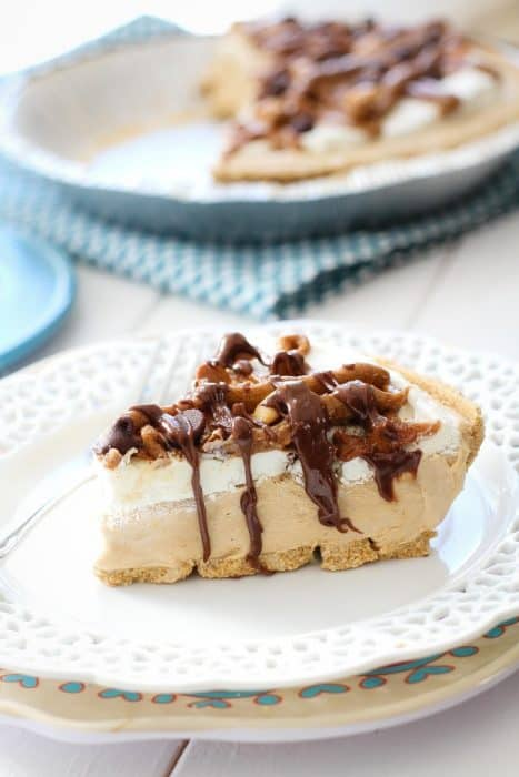 No Bake Peanut Butter Cinnamon Pie is the perfect easy treat.