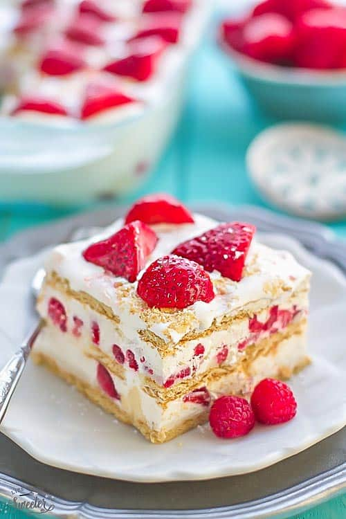 Strawberry Icebox Cake No Bake Cheesecake Filling