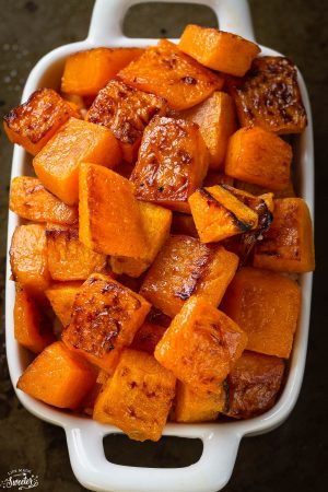 Roasted Butternut Squash make the perfect easy side dish!