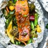 Teriyaki Salmon In Foil Packets