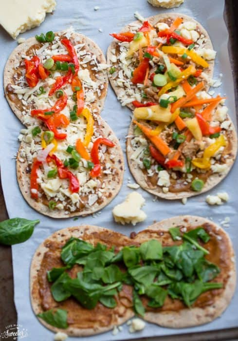 Thai Chicken Flatbread Pizza is perfect for busy weeknights!